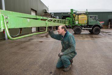 De veldspuit speelt dit jaar een cruciale rol bij de toepassing van precisielandbouw. Mogelijk koopt Verdegaal een kleiner model erbij.