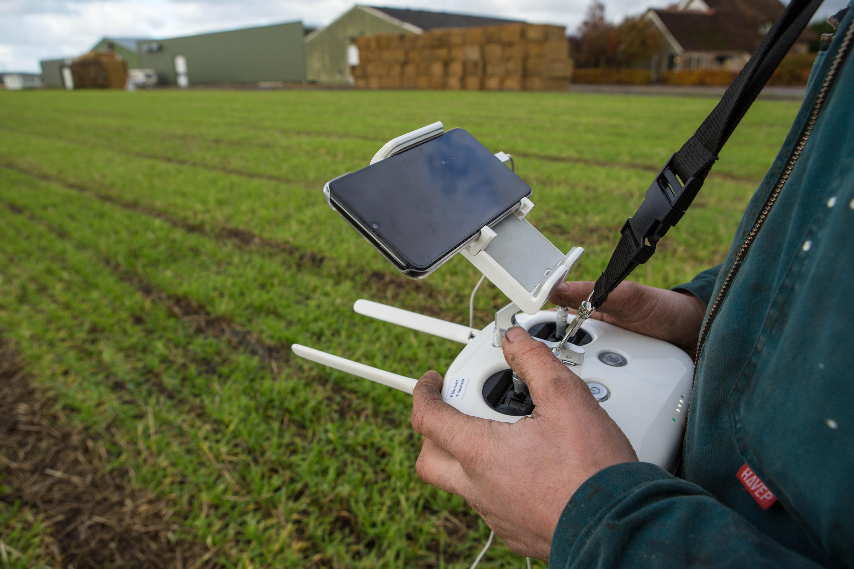 Het praktisch werken met de drone viel de ondernemer wel mee. Het waren vooral technische mankementen die parten speelden.